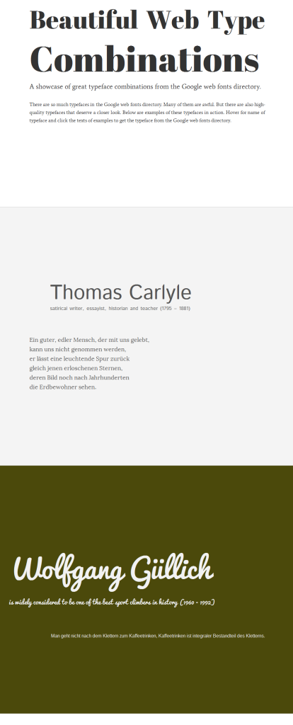 Screenshot Beautiful Web Type Combinations