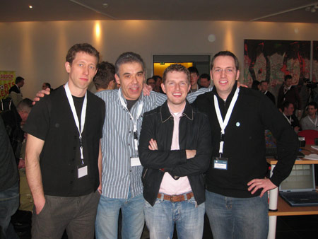 Feb 2009 - Matt meets WPEngineer: Frank, Michael, Matt, Alex