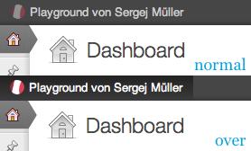 Screenshot Admin Bar Icon Example