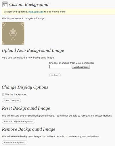 WordPress 3.0 Custom Background Support Step 2