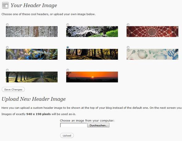 WordPress 3.0 Header Image